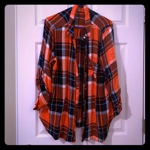 Tops - Plaid Button Up Flannel Top